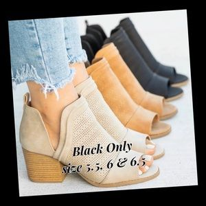 Cute Black Ankle Booties